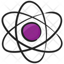 Nuclear Physics Atom Orbit Icon