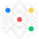 Nuclear Physics Atom Orbit Icon