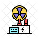Nuclear Plant Color Icon