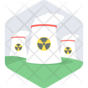 Nuclear Plant Cooling Tower Power Plant Icon