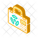 Nuclear Suitcase Isometric Icon