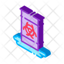 Danger Nuclear Pollution Icon
