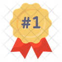 Number 1 Badge Badge Position Badge Icon