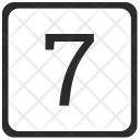 Seven Count Keyboard Icon