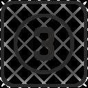 Number Three Keyboard Icon