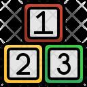 Number Blocks Toys Kid Icon