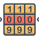 Number Combination Icon
