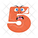 Number Five Monster Icon