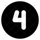 Number Four Four Counting Icon