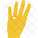 Number Four Gesture Icon