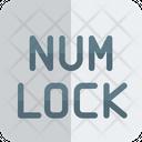 Number Lock Num Lock Lock Icon