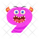 Number Nine Monster Icon