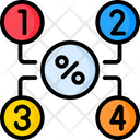 Number Percentage Chart Icon