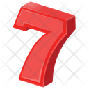 Number Seven Numbers Icon