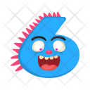 Number Six Monster Icon