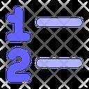 Numbered List Numbers List Icon