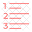 Numbers Alignment Text Icon