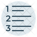 Numbers Format Text Icon