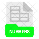 Numbers File Format Icon