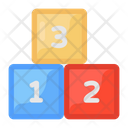 Numeric Blocks Kids Block Kids Plaything Icon