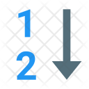 Numeric Sorting Icon