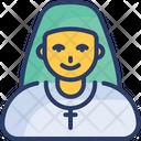 Nun Sister Woman Icon
