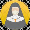 Nun Christian Mother Virgin Mary Icon