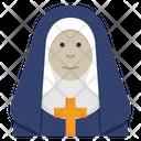 Nun Catholic Religion Icon
