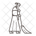 Nun sweeping Icon