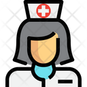 Nurse Medical Assistant Lady Icon