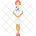 Lady Doctor Nurse Medical Assistant Icon