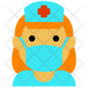 Nurse Coronavirus Covid Icon