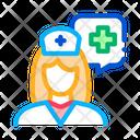 Medical Nurse Aid Icon