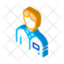 Silhouette Health Nurse Icon