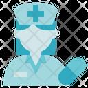 Pharmacy Nurse Women Icon