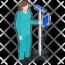 Nurse Female Attendant Medical Assistant Icon