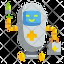 Nurse Robot Medical Technology Icon
