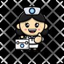 Nurse With Medical Kit Icon