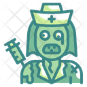 Nurse Zombie Horror Character Icon