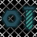 Nut Bolt Hardware Icon
