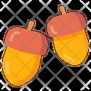 Nut Food Fall Icon