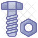 Nut Bolt Mechanical Tool Icon