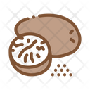 Nutmeg Nut Food Icon