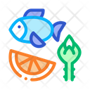 Nutrients Fish Fruit Icon