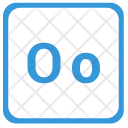 O Latin Letter Icon