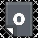 O File Extension Icon
