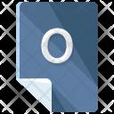 O File Format Icon