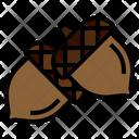 Acorn Autumn Chestnut Icon