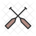 Oars Paddle Icon