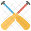 Oars Boat Paddle Rower Icon
